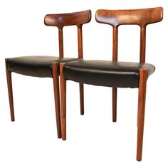 Pair of Rosewood Mid-Century Modern Chairs Attributed to Ole Wanscher
