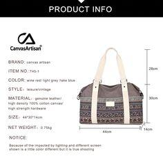 T45-1_04 Blue Fashion, Vintage Fashion, Large Bags, Cotton Canvas, Gym Bag, Messenger Bag, Unisex, Tote Bag, Women