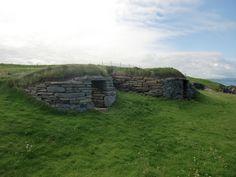 Prehistoric houses at Knap of Howar, Papa Westray, Orkney Islands