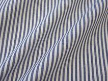Stoff Baumwollstoff marine blau weiß Streifen 4mm --> für Vorhänge im Babyzimmer