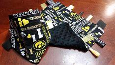 Cute Hawkeye baby tag blanket and bandana bib!