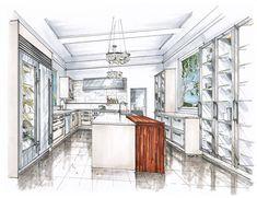 interior design hand renderings - Google Search