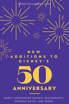 All of the latest news for Disney's 50th anniversary celebrations starting on October 1st, including fireworks shows, dessert parties, new restaurants, special 50th anniversary menus, and more! Check out this complete guide for everything you need to know if you're going to Disney World in the next 18 months. Disney World Packing, Walt Disney World Orlando, Disney World Secrets, Disney World Tips And Tricks, Disney Tips, Disney On A Budget, Disney Planning, Trip Planning, Fireworks Show