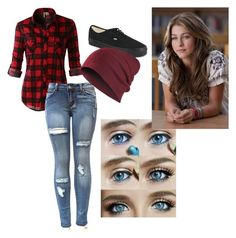"""""""untitled"""" by swimt0th3s3a ❤ liked on Polyvore featuring beauty, LE3NO, Vans and JULIANNE"""