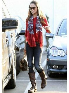Frye Veronica Slouch Boot in Dark Brown as seen on Vanessa Minnillo Lachey | Boutique To You