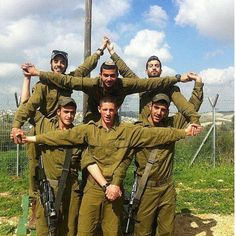 The IDF makes a Star of David.