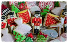 Decorated Christmas Cookie Assortment, The Nutcracker, Nutcracker, Shortbread Sugar, Christmas Cookies, Ballet, Drummer boy, Tutu, Mouse