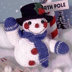 Crocheted Snowman Pattern (ePattern Download) - Christmas Holiday Season Crochet Pattern