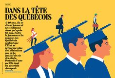 L'Actualité magazine - Dans la tête des québécois on Behance
