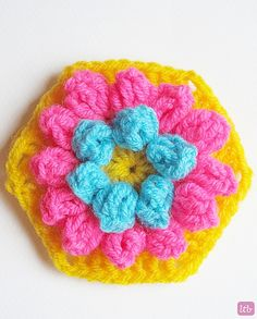 Ravelry: Project Gallery for Lily Pad Hexagon pattern by P.S. I crochet