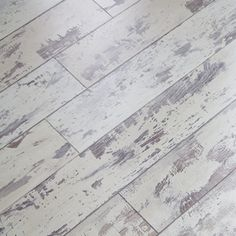 Cottage Oak Flooring - looks like old white chippy painted oak flooring - comes with pre-attached underlayment to save time and money on installation.