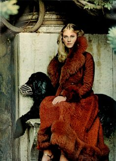 Cybil Shepard by Helmut Newton for US Vogue (1973)