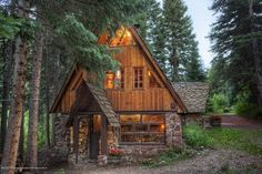little cottage in the woods, well not so little, but still cute.