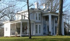 """Hockaday House, Fulton, MO, 1863.  """"Situated on a high hill, the Hockaday House exists as a significant historical and architectural landmark of that region of Missouri known as Little Dixie."""""""