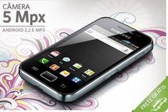 Samsung Galaxy Ace com Android 2.2, 3G, Wi-Fi, por apenas R$599.00