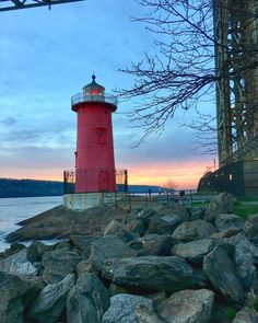 The light is on #littleredlighthouse #nyc #15miles #run #underthegw #runner #running #instarunners #fitspo #motivation #excercise #fitfam #spring #instarunners #sunset #nyc #runnershigh #photooftheday #photography #photo