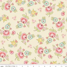 Vintage Baby - Vintage Floral Cream by Lori Whitlock for Riley Blake Fabrics. $7.99, via Etsy.