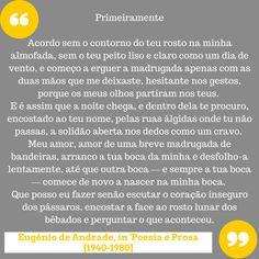 Eugénio de Andrade | Texto:
