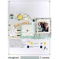 """Design team member @nicolemartel6542 shared this fun layout on the blog yesterday using lots of frames from the new """"Let's Go"""" collection.  #prettylittlestudio #plsletsgo #scrapbooking #papercrafts"""