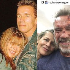Linda Hamilton and Arnold Schwarzenegger. - Terminator Funny - Terminator Funny Meme - - Linda Hamilton and Arnold Schwarzenegger. The post Linda Hamilton and Arnold Schwarzenegger. appeared first on Gag Dad. Arnold Schwarzenegger Movies, Patrick Schwarzenegger, Hollywood Stars, Hollywood Cinema, Hollywood Actor, Motivation Sportive, Terminator Movies, Tales From The Crypt, Celebrities Then And Now