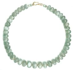 Big Aquamarine Bead Necklace