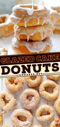 Looking for the best dessert idea? Glazed Cake Donuts are covered in a sweet glaze and fried to perfection! These homemade sweet treats are a must-try! Save this pin. Elegant Desserts, Desserts For A Crowd, Beautiful Desserts, Fancy Desserts, Donut Recipes, Cookie Recipes, Dessert Recipes, Easy Impressive Dessert, Basic Butter Cookies Recipe
