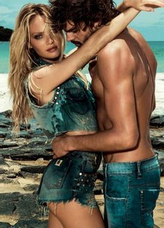 Candice Swanepoel turns up the heat and flashes her sexy abs in a campaign  for Osmoze jeans 5e1d4e7684