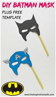 Batman Mask For Kids To Make This easy and cute superhero mask is super simple to make and perfect for kids. Today I have a fantastic mini tutorial to create your own kids batman mask. Making this DIY batman mask is simple, fun and easy to do and is a gr First Batman, Batman Vs Superman, Batman Poster, Batman Costume For Kids, Lego Batman Party, Superhero Kids, Superhero Party, Batman Mask Template, Batman Crafts