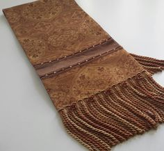 Bronze, Rust and Gold Elegant Table Runner, Damask, Velvet Table Runner - Size 64 in x 13 in by CVDesigns on Etsy