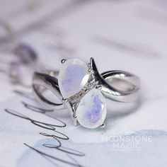 Moonstone Ring - Double Delight