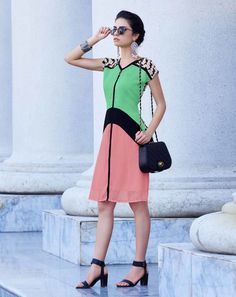 Colour Block Kurtas for women