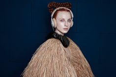 BeoPlay H6 Portraits by B&O PLAY - Nicholas Nybro is a fresh, exciting talent from Copenhagen. This dress is made from straw and is the epitome of couture and a return to glamcore | B&O PLAY #BeoPlay #BeoPlayH6 #Headphones