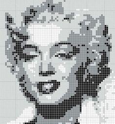 схема плетения из бисера мерилин монро - Поиск в Google