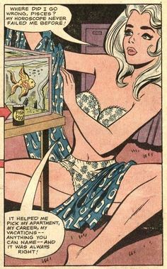 (via Sequential Crush: DC and Charlton Tackle the Zodiac) Astrology comic book pop art Comics Vintage, Vintage Cartoons, Old Comics, Archie Comics, Comics Girls, Comic Books Art, Comic Art, Book Art, Vintage Pop Art