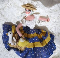 Vintage Collectible Spanish Layna GooseGirl Doll from 1950-1960