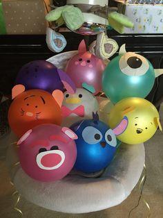 Disney Party Ideas: Tsum Tsum Party  balloons