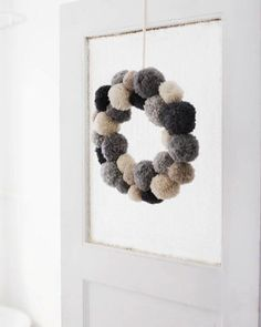 Sweet Paul's Pom Pom Wreath