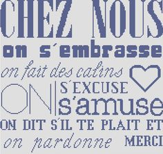 "AFFICHE ""CHEZ NOUS"" Needlework, Cross Stitch, Bullet Journal, Notes, Messages, Sewing, Phrases, Saxophone, Portable"