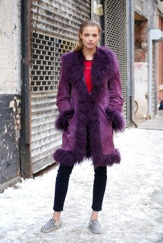 I was rockin my checkerboard Vans around Brooklyn last fall and lookee, they're making the NYFW cut ladidah The Best Street Style from New York Fashion Week, Day 7: Hailey Clauson Model
