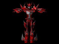 3D maya 角色設計 閃電騎士毀滅者-ARCHE-正面