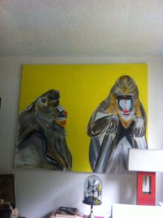 Meeting of minds. Acrylic on canvas 8 ft by 6 ft