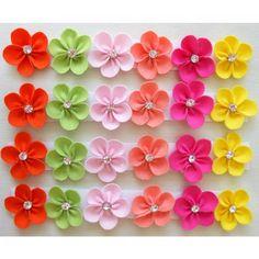 Lacinho Florzinha Colorida Para Recém Nascido