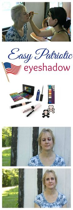 I'll admit that I'm more at home in pinks and neutrals but for the 4th of July, I really wanted to show my patriotic pride with an easy patriotic eyeshadow look. Fun makeup idea for a party or parade or to show your patriotism.