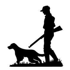 silhouette-of-a-hunter-and-dog-illustration-id165518095 (414×414) Hunting Decal, Hunting Art, Hunting Dogs, Elk Silhouette, Hunting Tattoos, Hunting Birthday, Laser Art, Free Stencils, Wood Burning Patterns