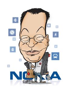 What will happen to Nokia? Enough for the contents of the bag? #elop #nokia #lumia #caricature #windowsphone