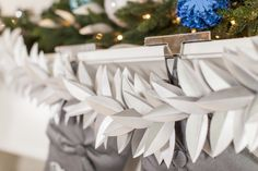 Beautiful and intricate, this leaf garland is a great decorative accent for the mantel. #HandmadeHoliday2015