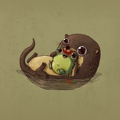 11 adorable illustrations of the circle of life Cute Animal Illustration, Cute Animal Drawings, Illustration Art, Art Illustrations, Cute Animals With Funny Captions, Cute Baby Animals, Cute Animal Videos, Cute Animal Pictures, Pictures To Draw