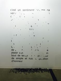 Latifa Echakhch at Dvir Gallery booth in Art Basel