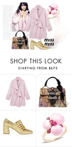 """MIU  MIU"" by nurinur ❤ liked on Polyvore featuring Vince, Miu Miu and Pomellato"