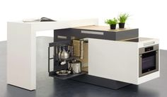 kleine modulare Küche Einbaugeräte